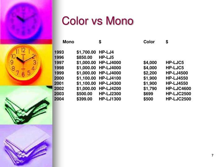 Color vs Mono