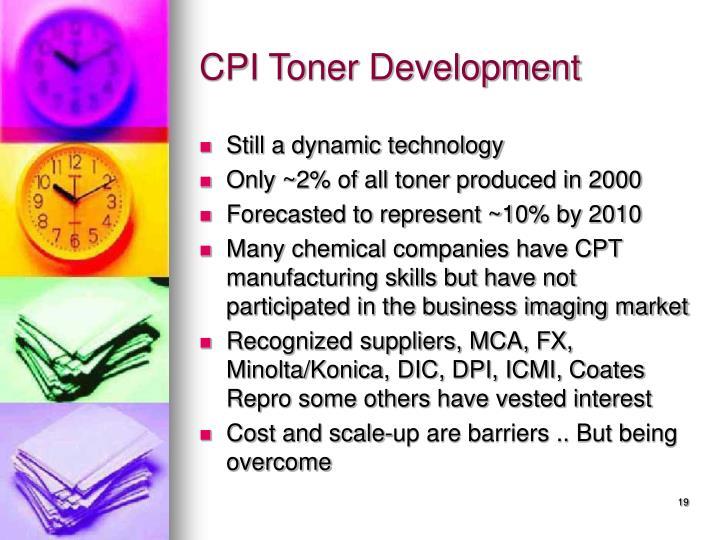 CPI Toner Development