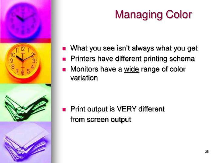 Managing Color