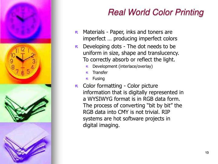 Real World Color Printing