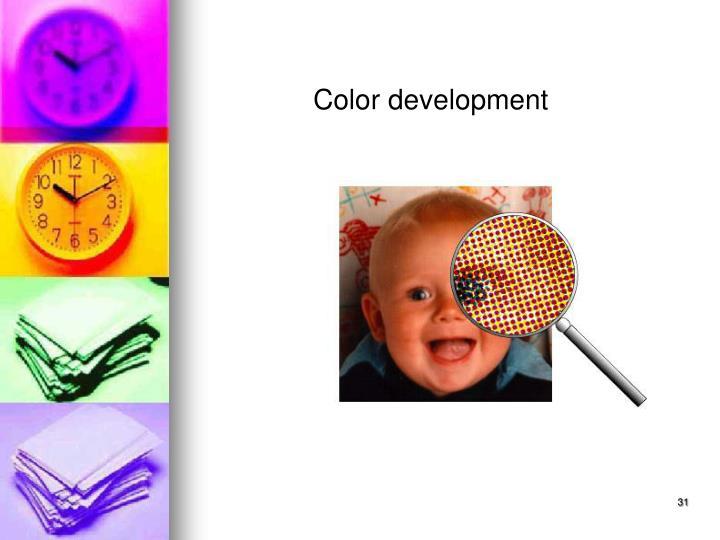 Color development