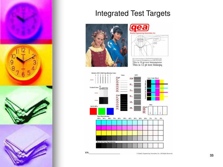 Integrated Test Targets