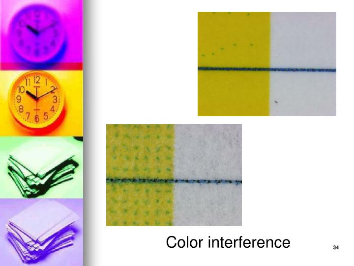 Color interference