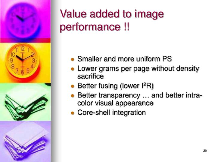 Value added to image performance !!