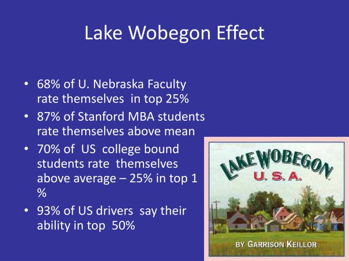 Lake Wobegon Effect