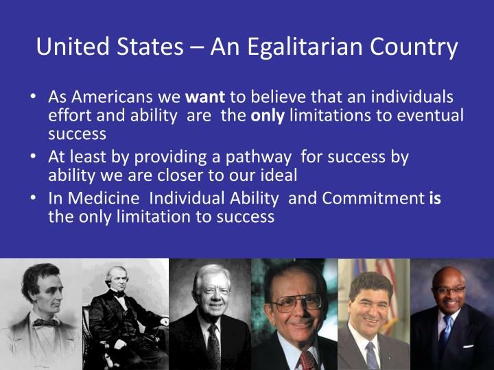 United States – An Egalitarian Country