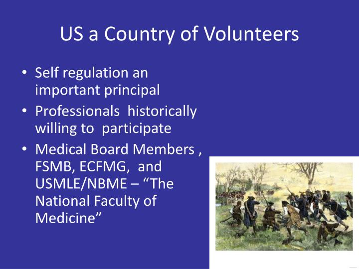 US a Country of Volunteers