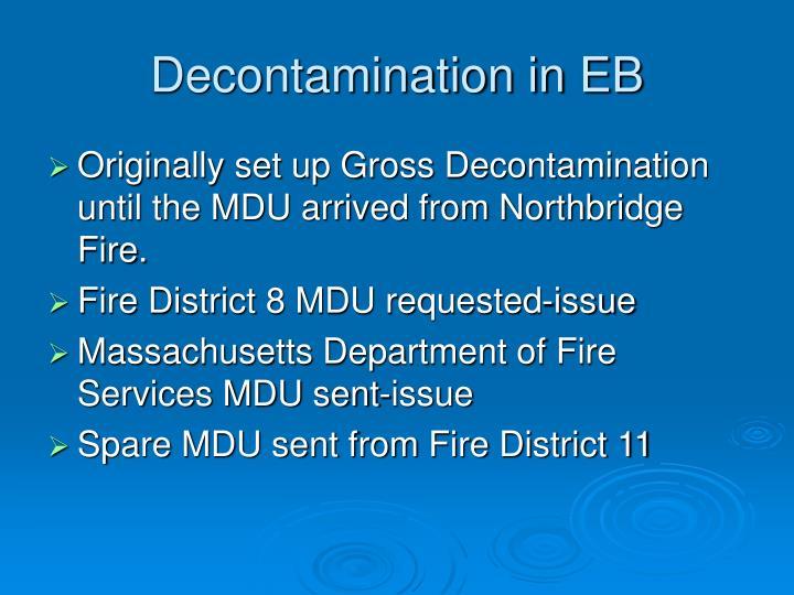Decontamination in EB