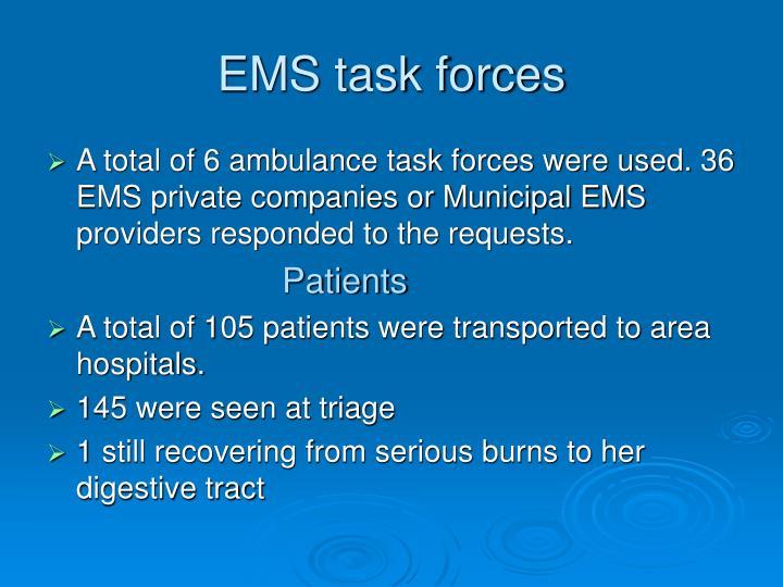 EMS task forces