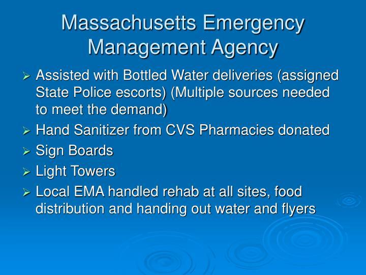 Massachusetts Emergency Management Agency