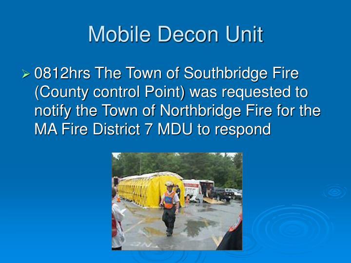 Mobile Decon Unit