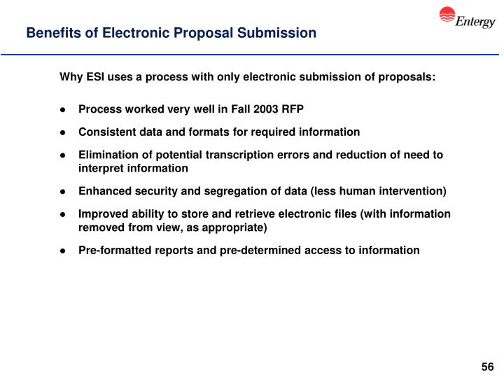 Benefits of Electronic Proposal Submission