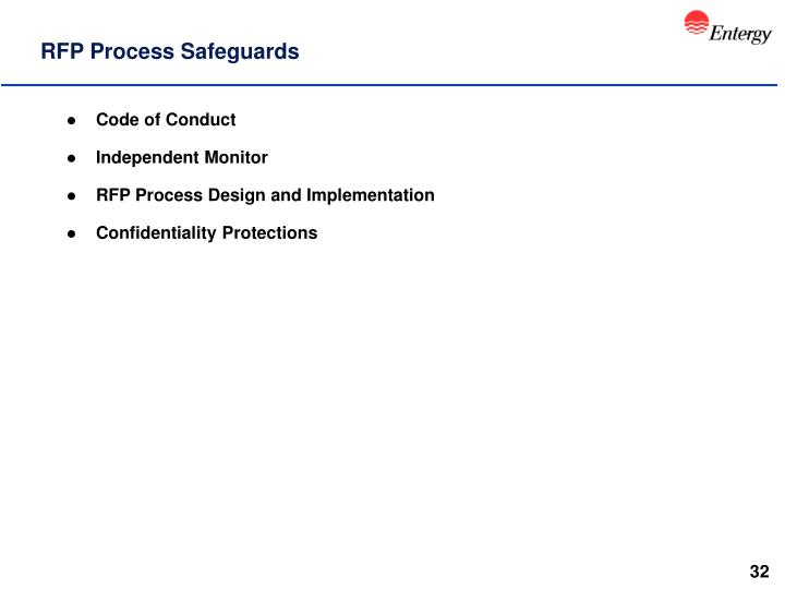 RFP Process Safeguards
