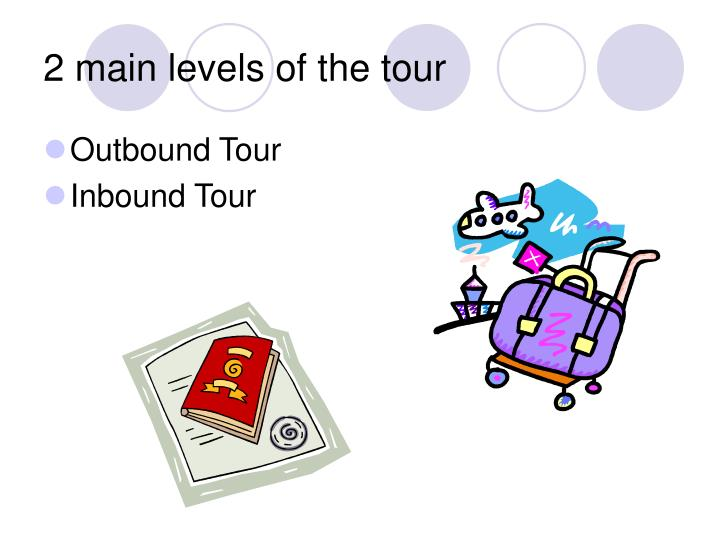 2 main levels of the tour