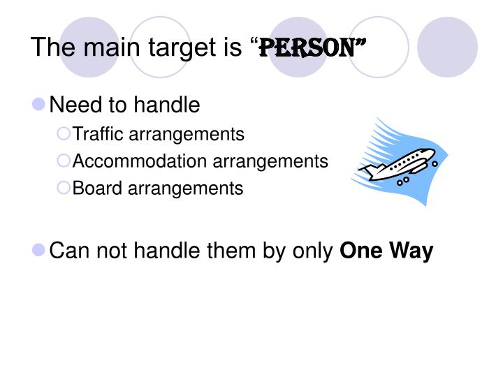 """The main target is """""""