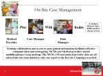 on site case management