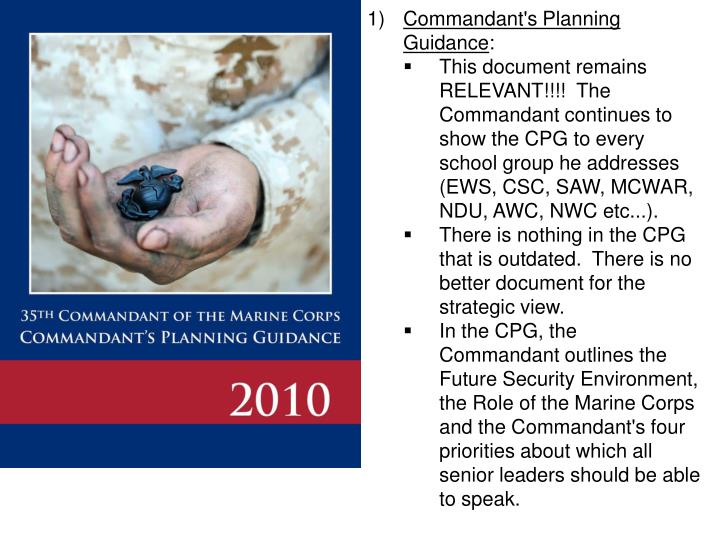 Commandant's Planning Guidance