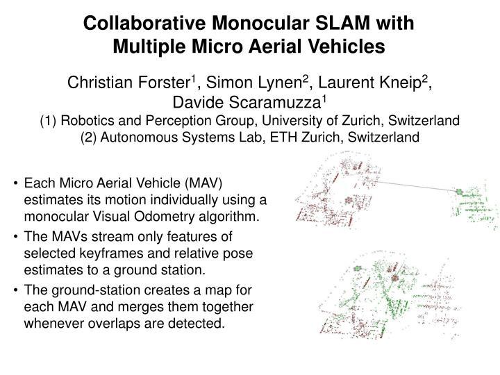 Collaborative Monocular SLAM with
