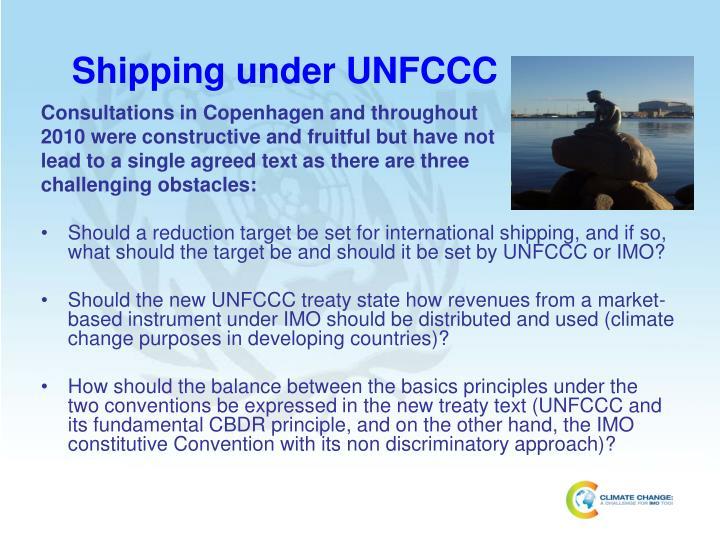 Shipping under UNFCCC