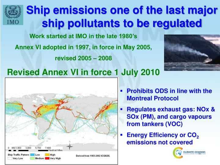 Ship emissions one of the last major ship pollutants to be regulated