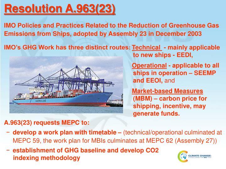 Resolution A.963(23)