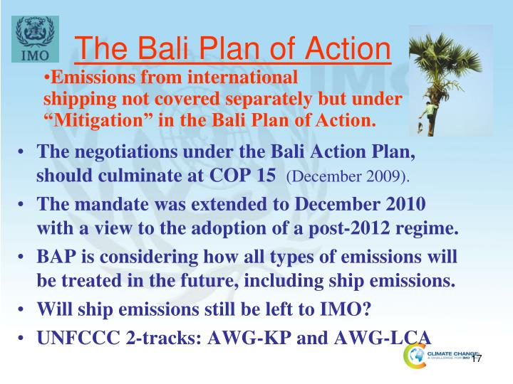 The Bali Plan of Action