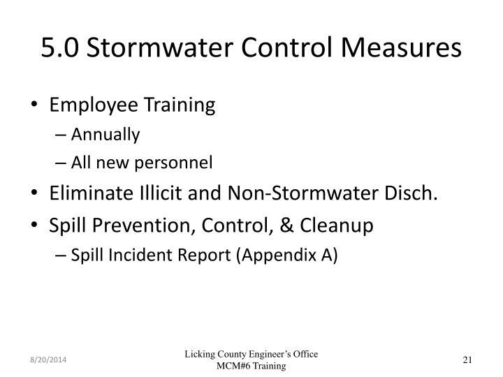 5.0 Stormwater Control Measures
