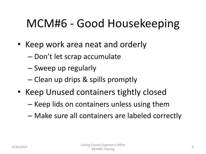 MCM#6 - Good Housekeeping