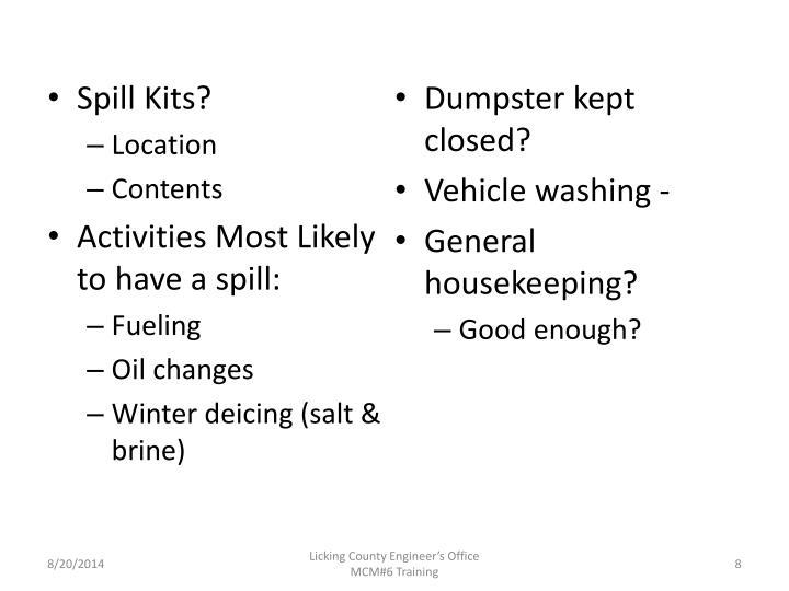 Spill Kits?