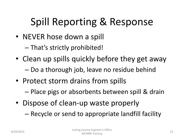 Spill Reporting & Response