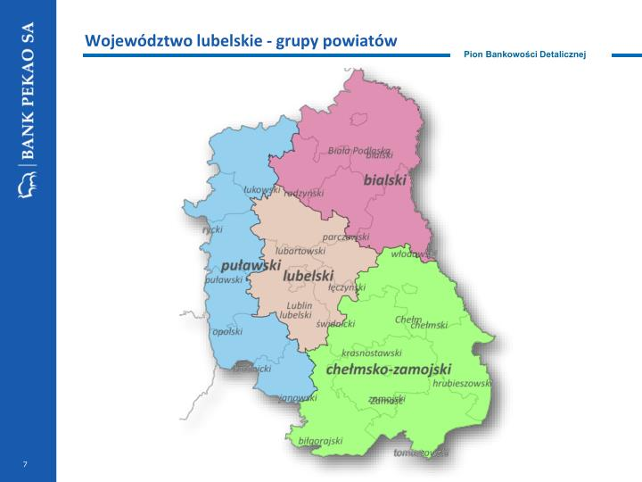 Województwo lubelskie - grupy powiatów