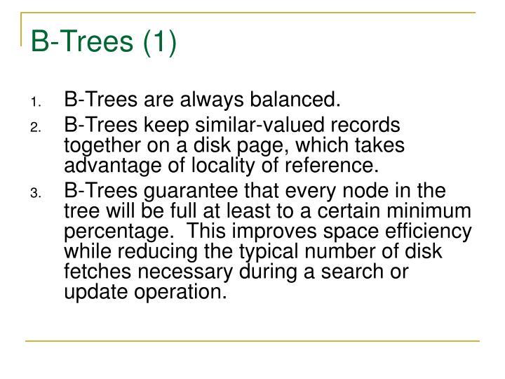 B-Trees (1)