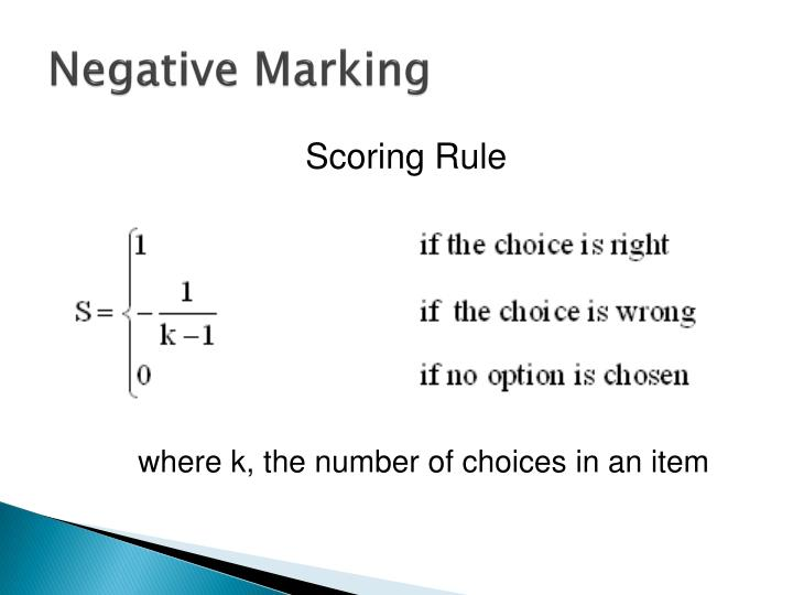 Negative Marking