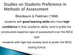 studies on students preference in methods of assessment1
