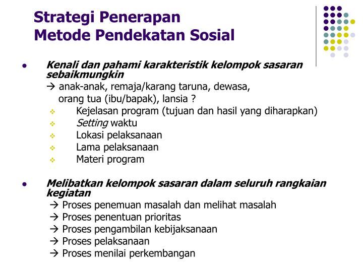 Strategi Penerapan