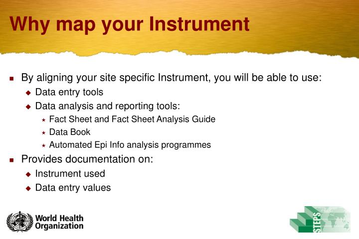 Why map your instrument
