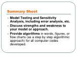 summary sheet1
