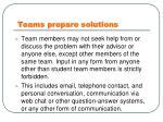 teams prepare solutions1