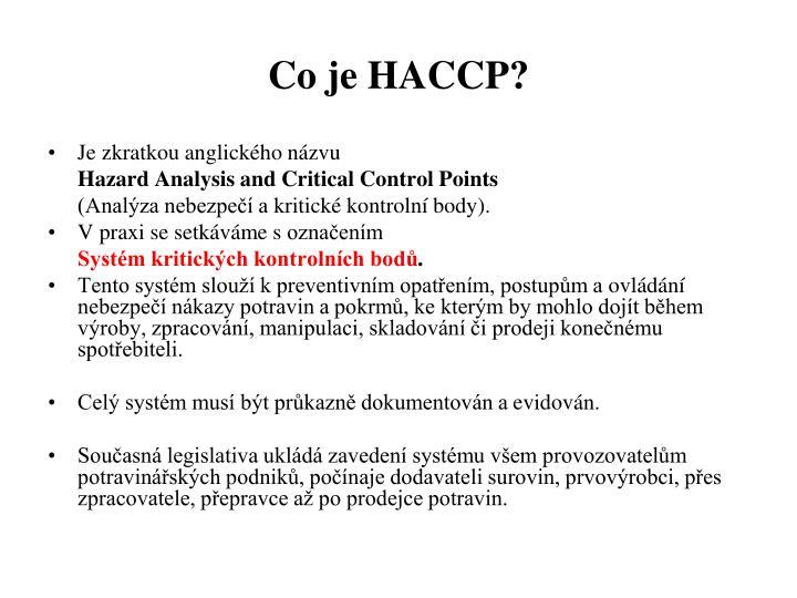 Co je HACCP?