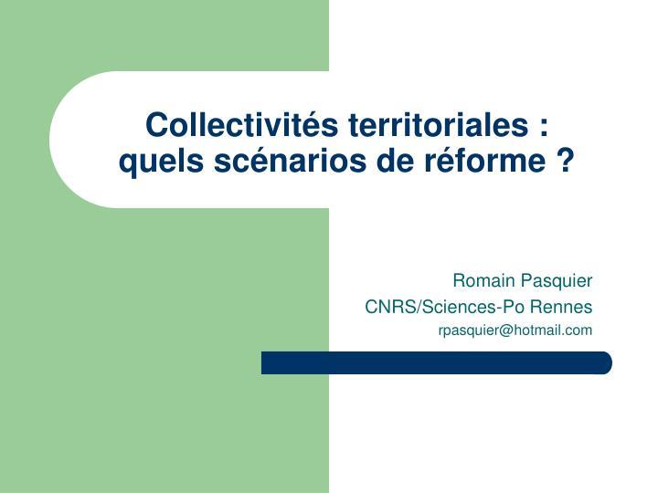 Collectivités territoriales :