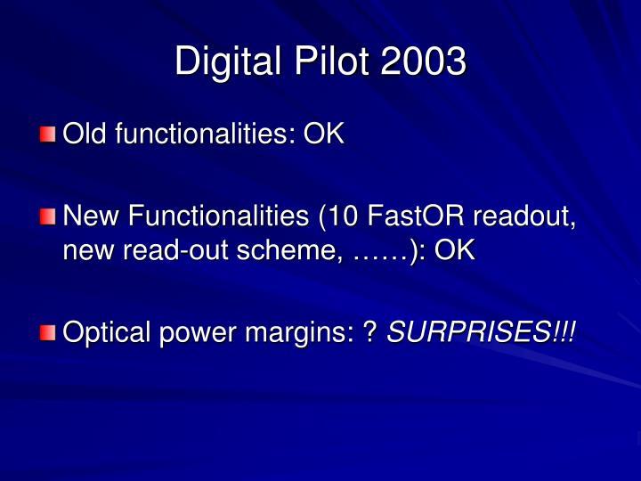 Digital Pilot 2003