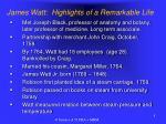 james watt highlights of a remarkable life2