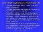 james watt highlights of a remarkable life8