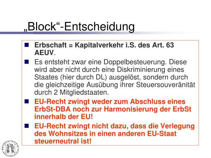 """Block""-Entscheidung"