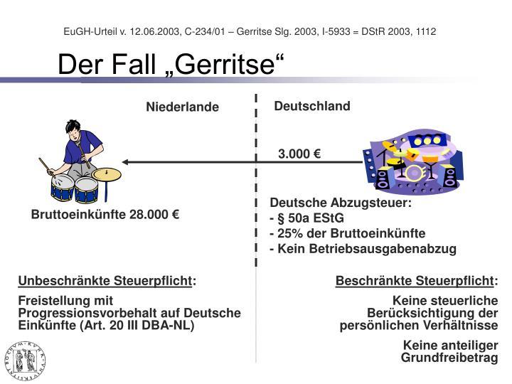 """Der Fall """"Gerritse"""""""