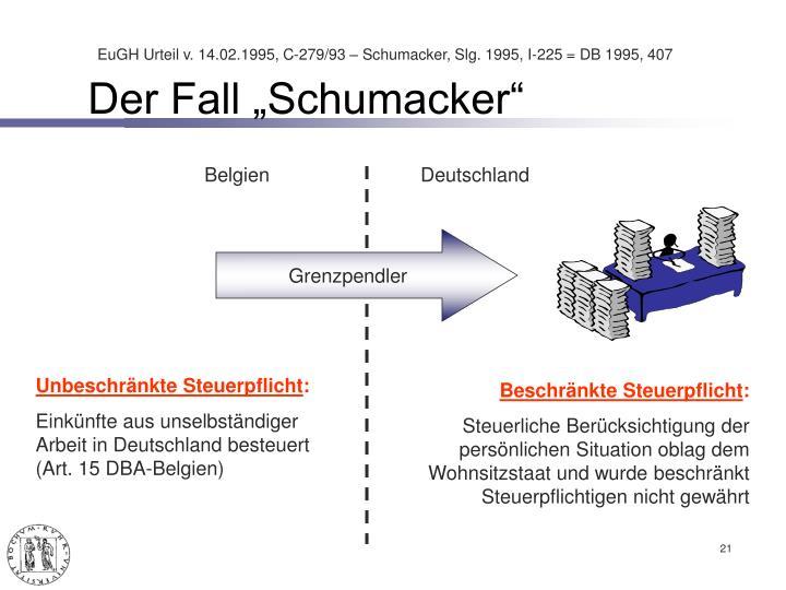 """Der Fall """"Schumacker"""""""