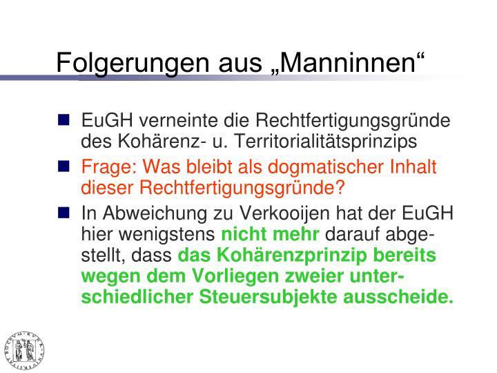 """Folgerungen aus """"Manninnen"""""""