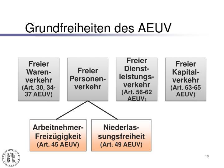 Grundfreiheiten des AEUV