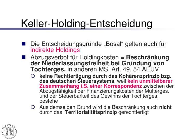 Keller-Holding-Entscheidung