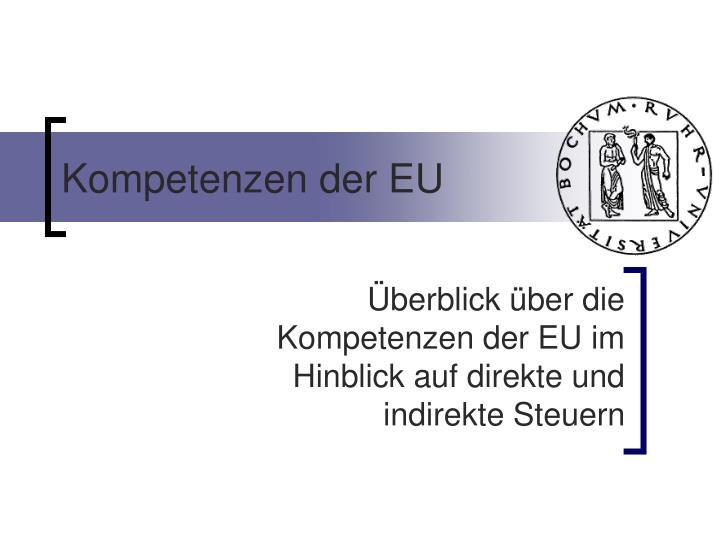 Kompetenzen der EU